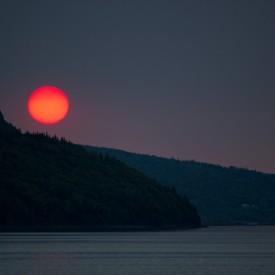 Deep Red Sun